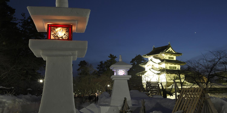 Hirosaki Castle Yuki-Doro Festival
