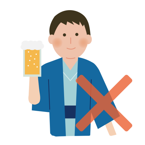 식사 직후, 술을 마신 후에는 입욕을 피해주세요.