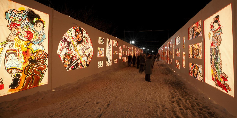 히로사키성 눈등롱 축제